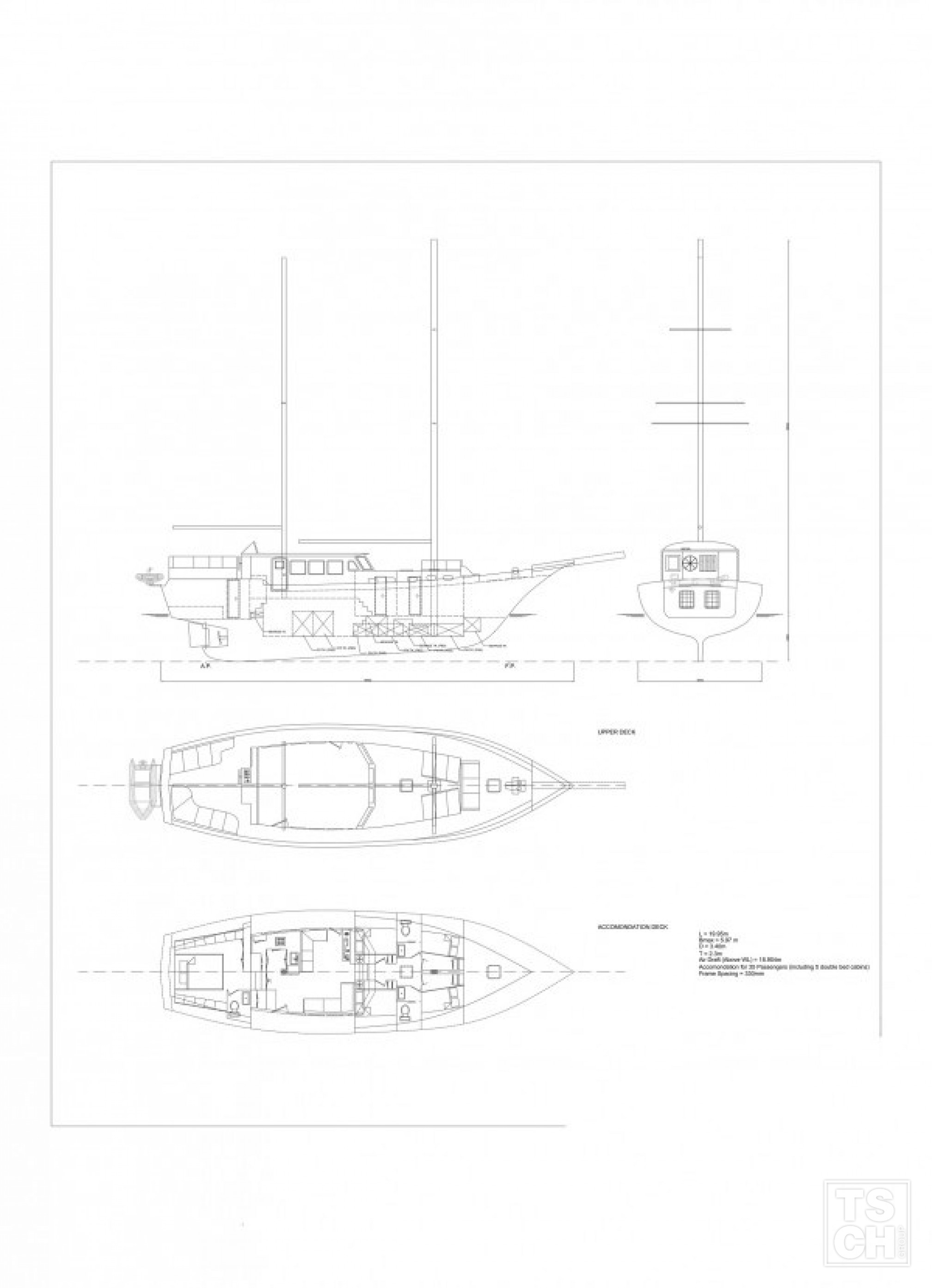 Alexia K gulet charter Greece, layout