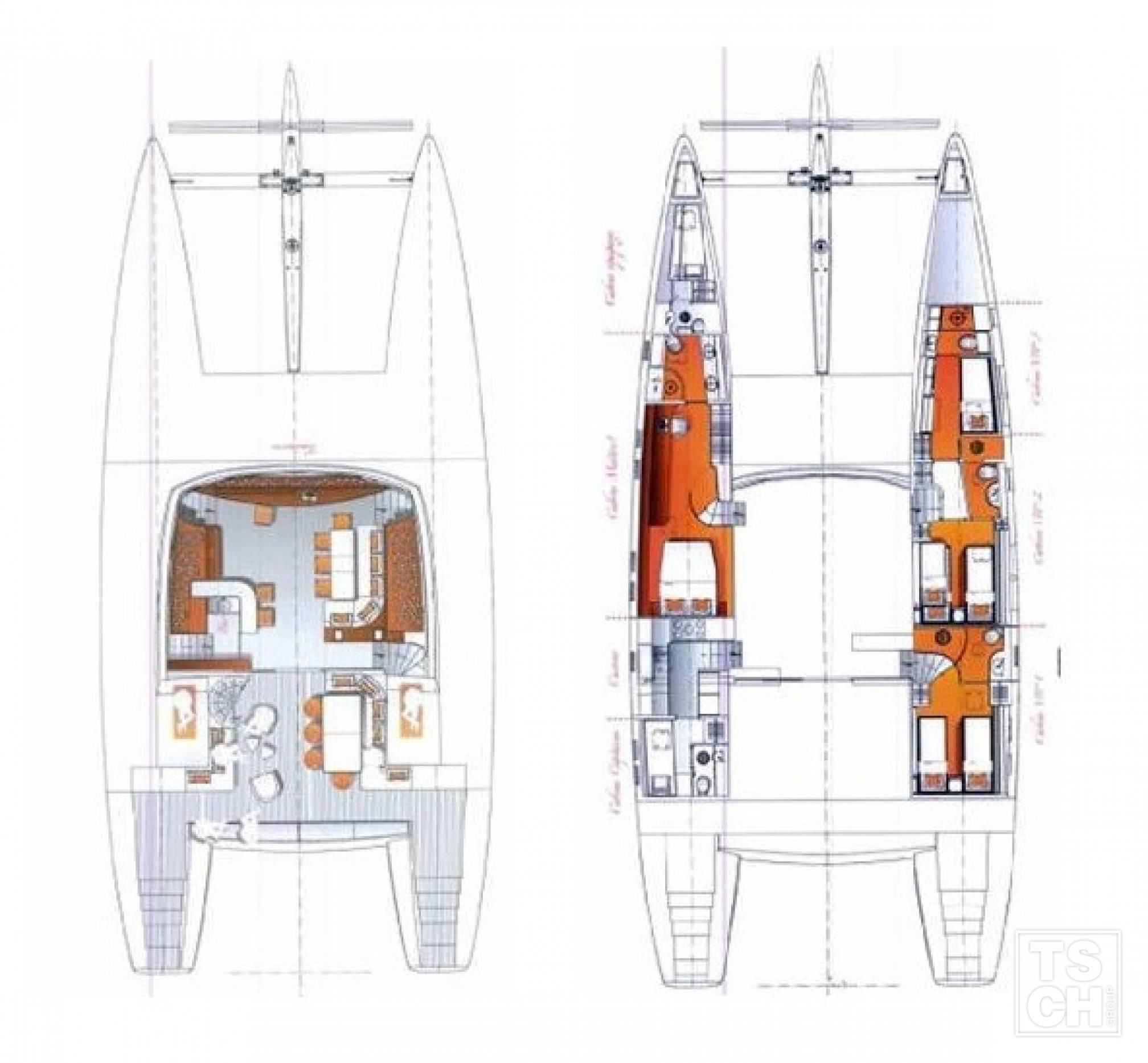 MAITA'I Luxury Catamaran Layout