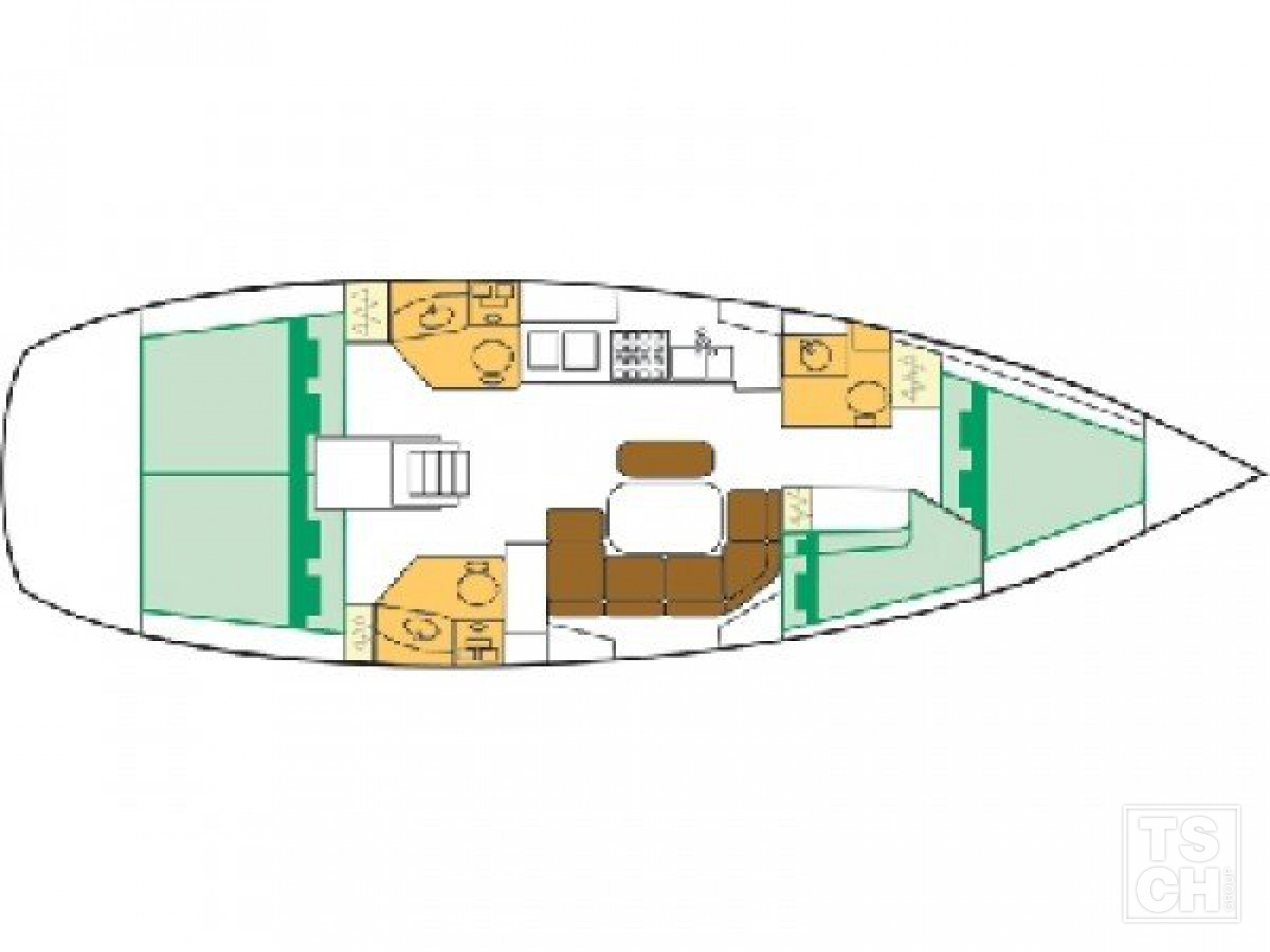 Oceanis Clipper 423_Layout