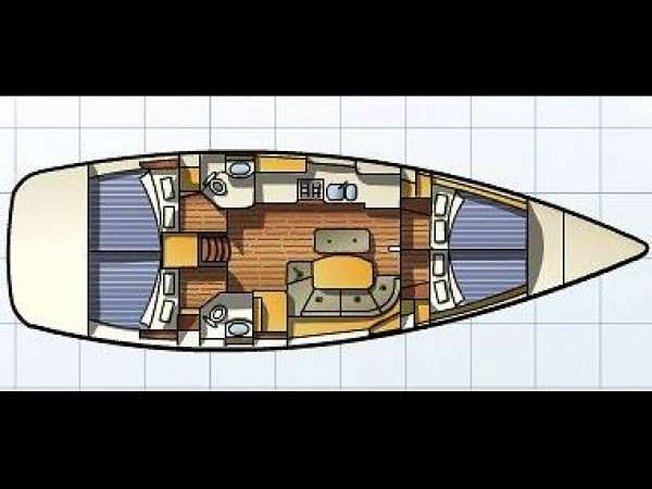 oceanis clipper 43 (4 cab)_Layout