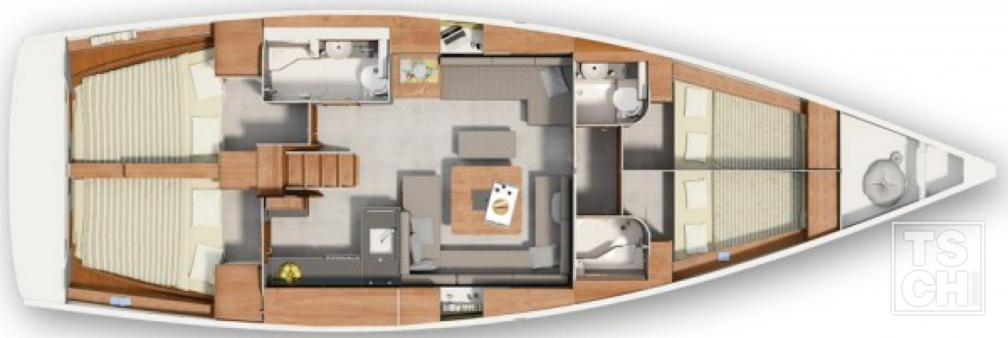 Hanse 455 New layout