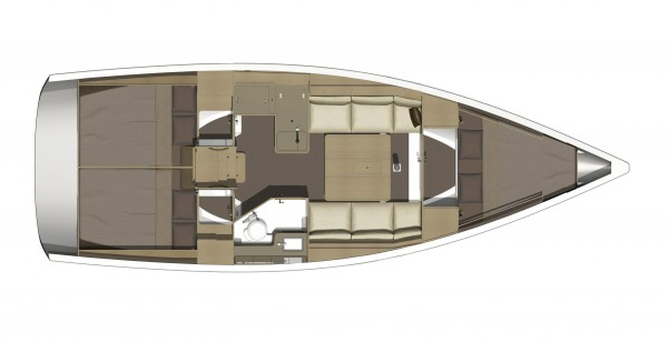 Dufour 350 GL layout