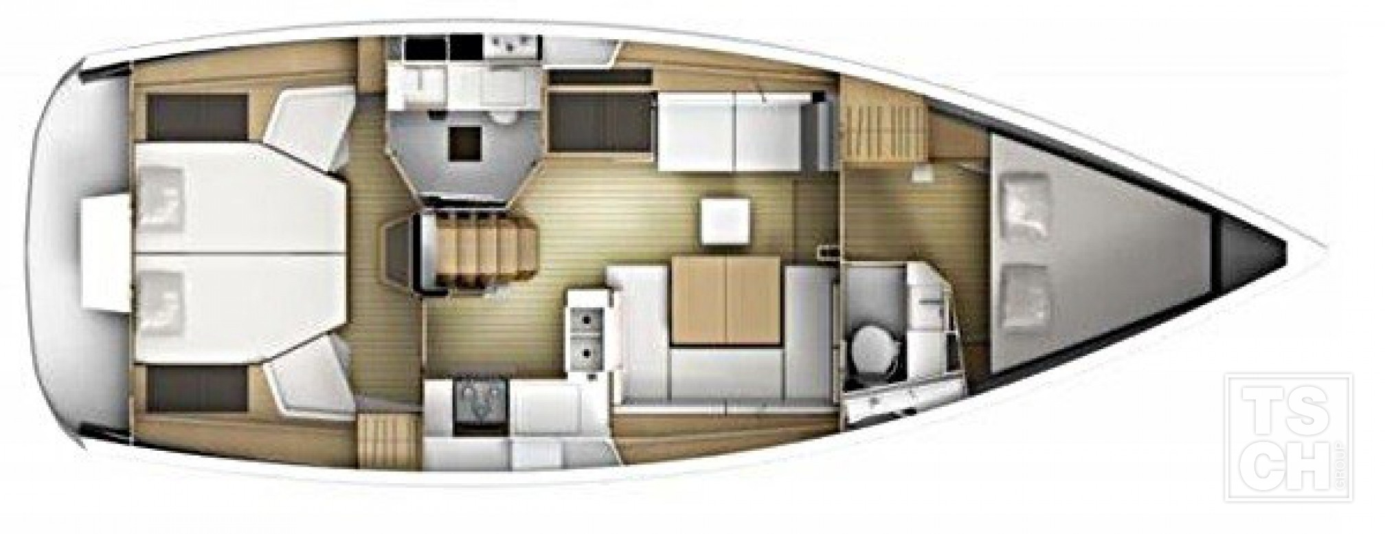 Sun Odyssey 41 DS layout