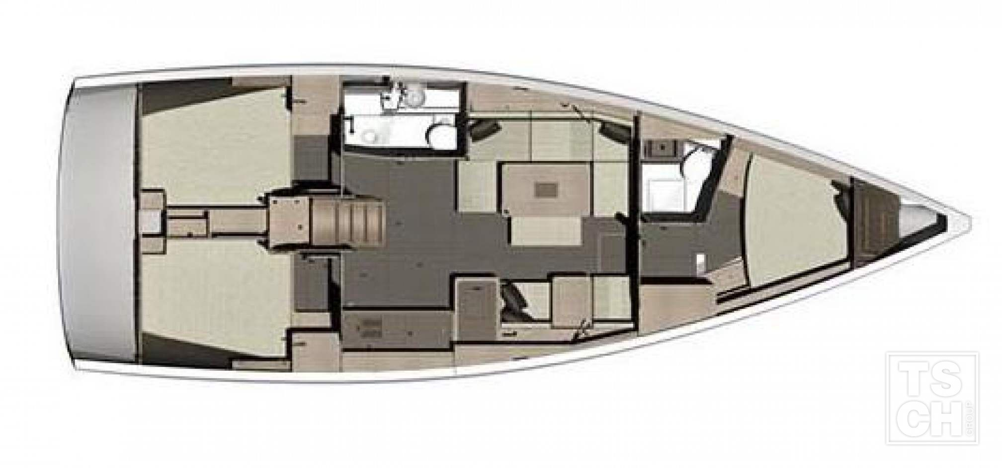 Dufour 412 GL rent charter layout
