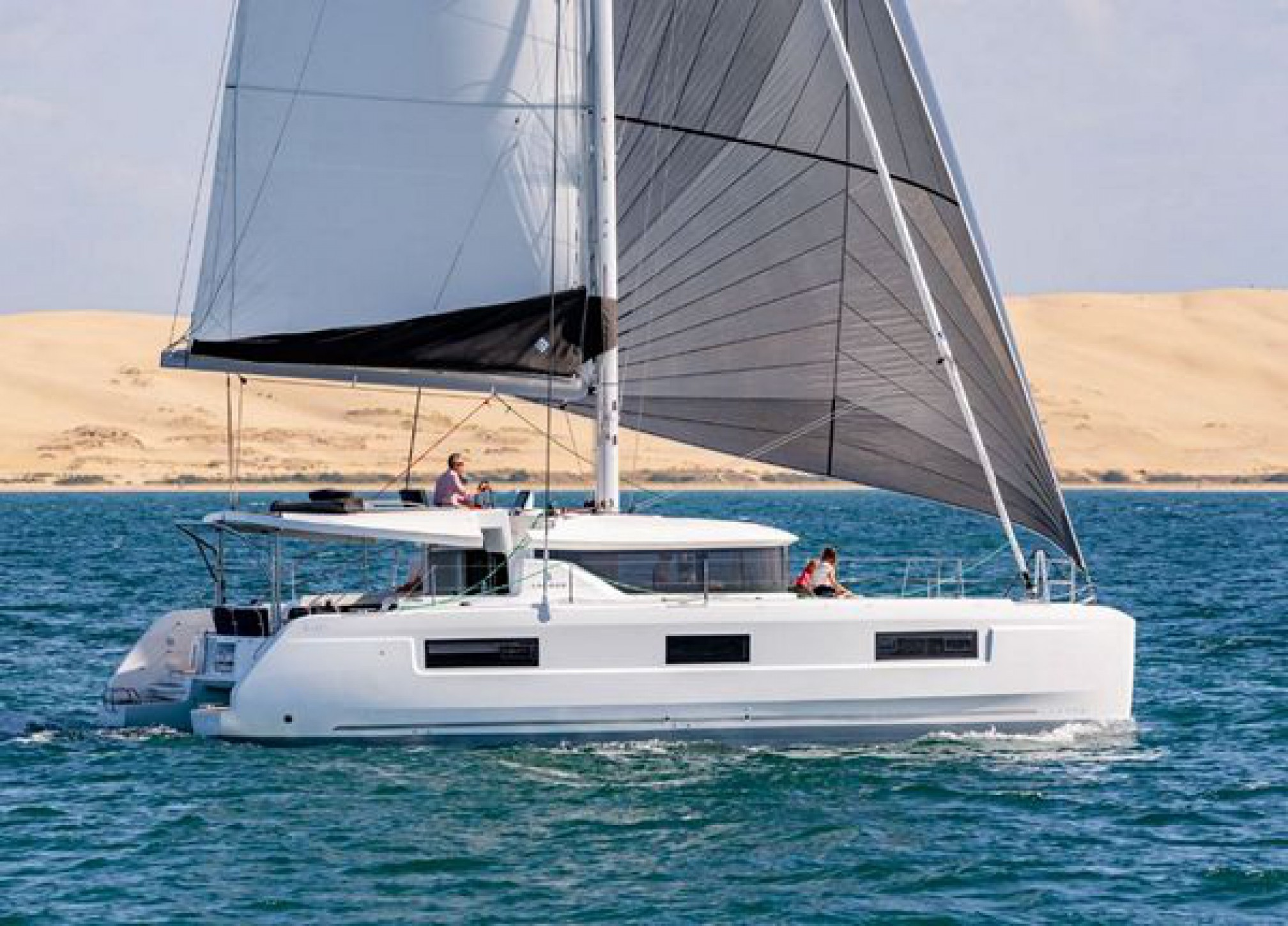 Rental catamaran Lagoon 46 sailing
